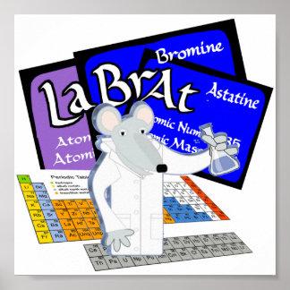 Tabla periódica de la rata del laboratorio de tecn póster