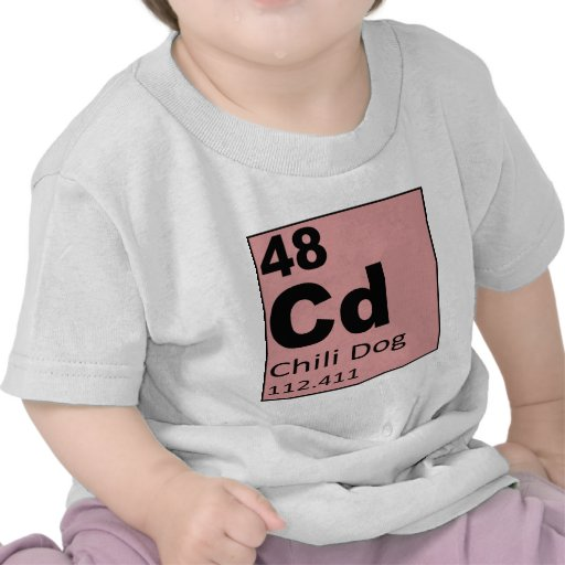 Tabla periódica de los elementos del foodie: Perro Camiseta