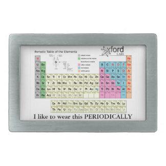 Tabla periódica de los elementos hebillas de cinturón rectangulares