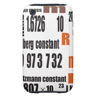 Tabla periódica de Oxygentees Tough iPhone 3 Funda