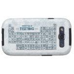 Tabla periódica de Texting (azul) Galaxy S3 Carcasas
