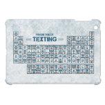 Tabla periódica de Texting (azul) iPad Mini Carcasas