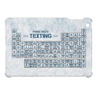 Tabla periódica de Texting azul iPad Mini Carcasas