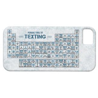 Tabla periódica de Texting (azul) iPhone 5 Carcasa