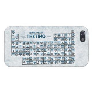 Tabla periódica de Texting (azul) iPhone 5 Funda