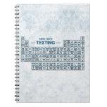 Tabla periódica de Texting (azul) Libro De Apuntes