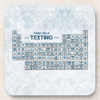 Tabla periódica de Texting (azul) Posavasos De Bebidas