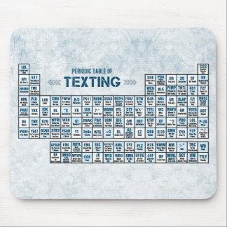 Tabla periódica de Texting (azul) Mouse Pads