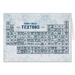 Tabla periódica de Texting (azul) Tarjeta Pequeña