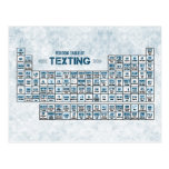 Tabla periódica de Texting (azul) Tarjetas Postales