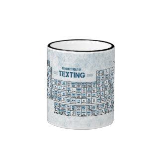 Tabla periódica de Texting azul Taza De Café