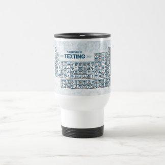 Tabla periódica de Texting (azul) Tazas De Café