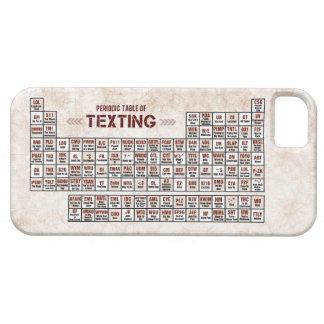 Tabla periódica de Texting Funda Para iPhone 5 Barely There