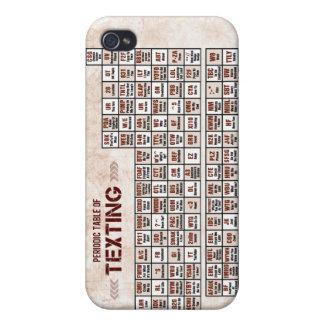 Tabla periódica de Texting iPhone 4/4S Carcasas