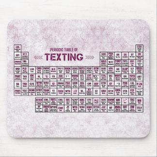 Tabla periódica de Texting (rosa) Alfombrilla De Ratones