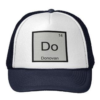 Tabla periódica del elemento conocido de la gorras de camionero
