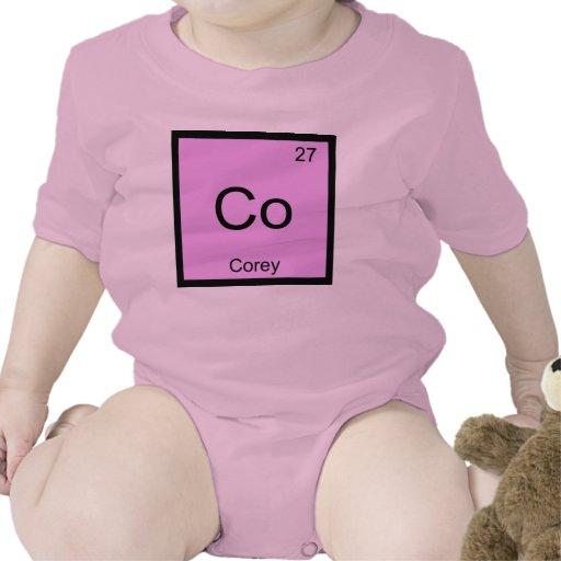 Tabla periódica del elemento conocido de la traje de bebé