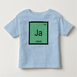 Tabla periódica del elemento conocido de la playera de bebé