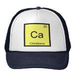 Tabla periódica del elemento conocido de la químic gorras