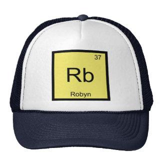 Tabla periódica del elemento conocido de la químic gorros bordados