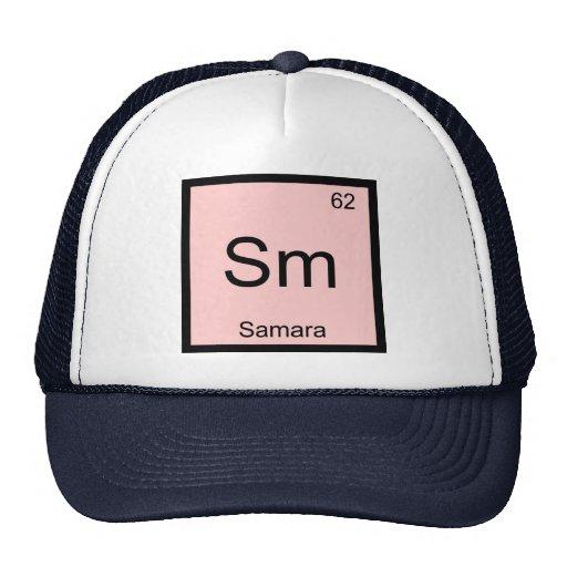 Tabla periódica del elemento conocido de la químic gorros