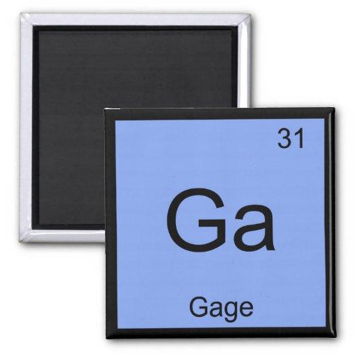 Tabla periódica del elemento conocido de la químic iman