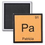 Tabla periódica del elemento conocido de la químic imán