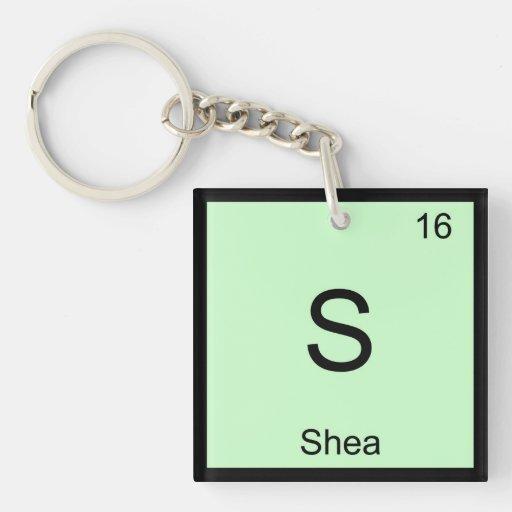 Tabla periódica del elemento conocido de la químic llavero cuadrado acrílico a una cara