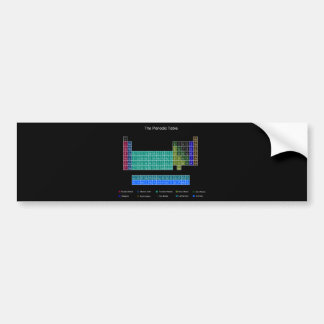 Tabla periódica elegante - azul y negro etiqueta de parachoque