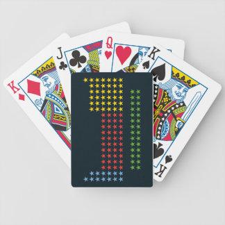 Tabla periódica en estrellas baraja cartas de poker
