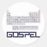 Tabla periódica = evangelio etiqueta redonda