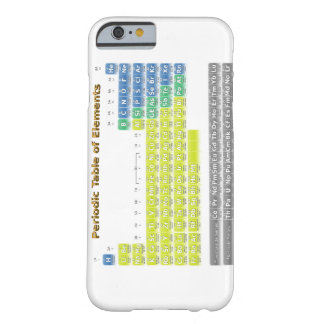 Tabla periódica funda para iPhone 6 barely there
