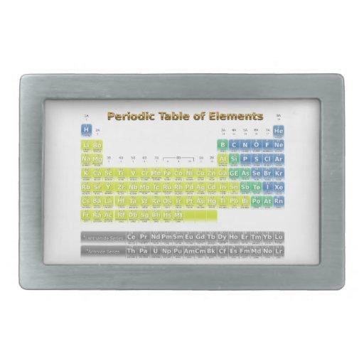 Tabla periódica hebilla cinturon
