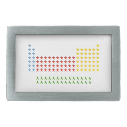 Tabla periódica hebillas de cinturón rectangulares
