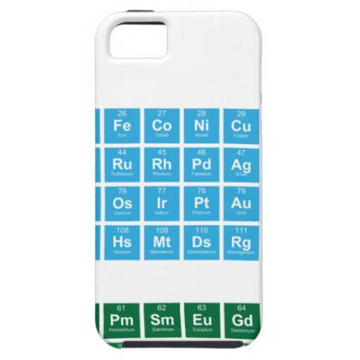 Tabla periódica iPhone 5 carcasas