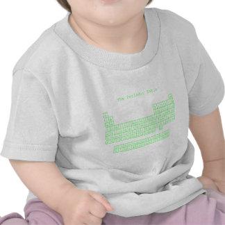 Tabla periódica verde de neón camiseta