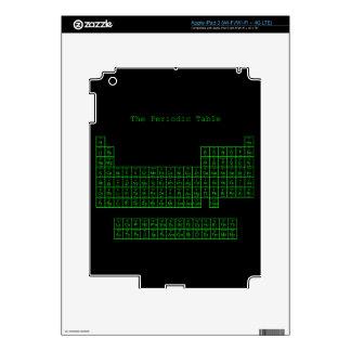 Tabla periódica verde de neón pegatinas skins para iPad 3