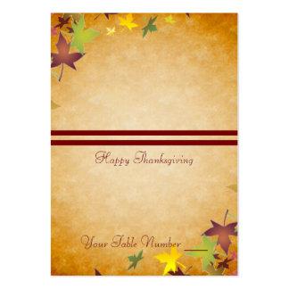 Tabla Placecard de la acción de gracias de la Tarjetas De Visita Grandes
