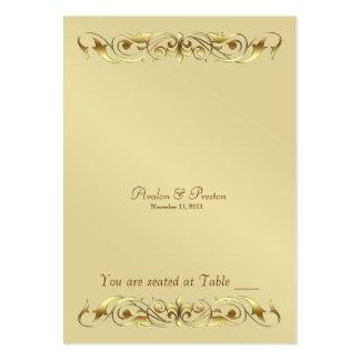 Tabla Placecard de la voluta del metal de la Tarjetas De Visita Grandes