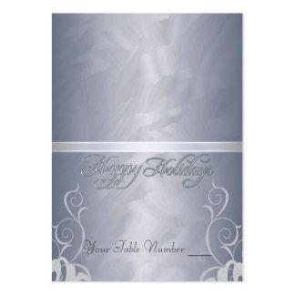 Tabla Placecard del día de fiesta de la cinta de l Plantilla De Tarjeta De Visita