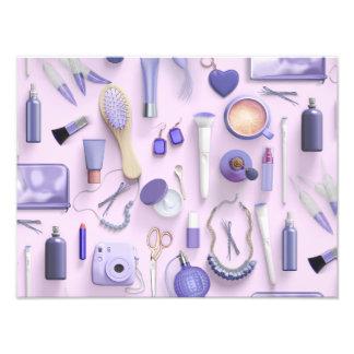 Tabla púrpura de la vanidad fotografía