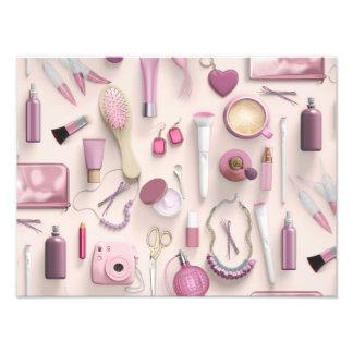 Tabla rosada de la vanidad fotografías