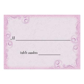 Tabla rosada elegante Placecard del boda de Scroll Tarjetas De Negocios