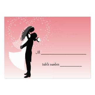 Tabla rosada Placecard del boda de Ombre Plantilla De Tarjeta De Negocio