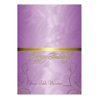 Tabla rosada Placecard del día de fiesta de la cin Plantilla De Tarjeta De Visita
