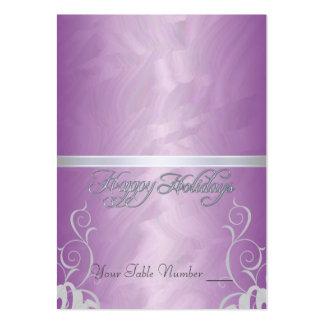 Tabla rosada Placecard del día de fiesta de la cin Tarjetas De Visita