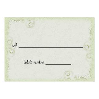 Tabla verde oliva elegante Placecard del boda de S Tarjetas De Visita