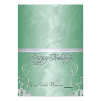 Tabla verde Placecard del día de fiesta de la cint Plantilla De Tarjeta Personal