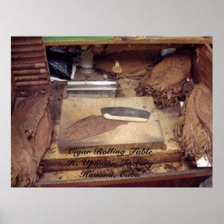 Tabla y herramientas, cigarro que rueda TableH. Up Póster