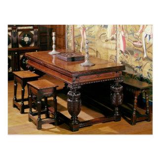 Tabla y sillas, conocidas como Bromley-por-Arco Tarjetas Postales